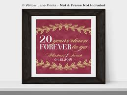 20 year wedding anniversary 20th anniversary gift for husband or for 20th wedding 20 year