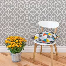 trellis wallpaper warm grey peel and stick