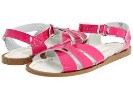 youth girls women salt water sandal shiny fuchsia 818s sun san by