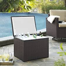 Crosley Furniture Kitchen Cart Amazon Com Crosley Furniture Palm Harbor Outdoor Wicker 60 Quart