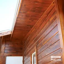 Sikkens Cetol Uv Interior Real Wood Siding Featuring Sikkens Proluxe Cetol Srd In Redwood