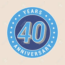40th anniversary color 40 years anniversary vector icon emblem design element with