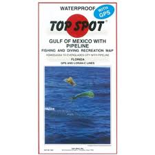 Florida Gulf Coast Map Amazon Com Top Spot Fishing Map From West Coast Florida Offshore