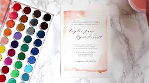 watercolor wedding invitations diy watercolor wedding invitations