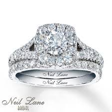 neil bridal set jared neil bridal 1 7 8 ct tw diamonds 14k white gold