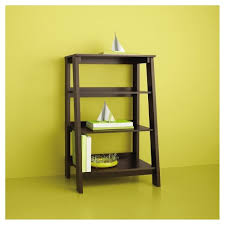 target 3 shelf bookcase 3 shelf trestle bookcase espresso room essentials target