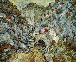 the ravine of the peyroulets vincent van gogh painted in