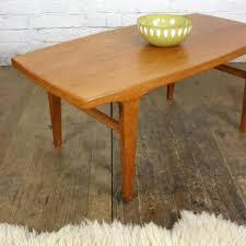 danish mid century teak coffee table 1 small mustard vintage