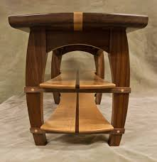 Tiger Maple Furniture The Contrast Of The Black Walnut And The Curly Maple Provides An