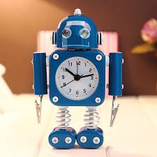 creative robot alarm clock mute clock message clips home