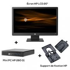 pc bureau avec ecran mini ordinateur de bureau hp 260 g1 avec écran 20 lcd support