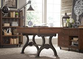 arlington house cobblestone brown writing desk from liberty 411