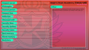 dangan ronpa oc info chart base by mayhemb on deviantart