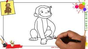 how to draw a monkey easy u0026 slowly step by step for kids and