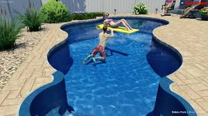 Lagoon Swimming Pool Designs by Lagoon Shaped Pool Design By Rideau Pools Ottawa Youtube