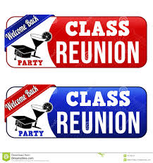 high school reunion banners class reunion banners stock vector image 42745271