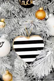 kara s ideas diy black white gold modern tree