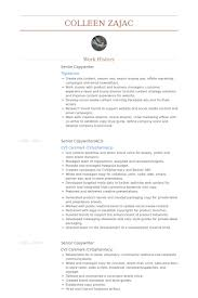 Respiratory Therapist Resume Samples by Senior Copywriter Resume Samples Visualcv Resume Samples Database