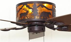 Western Ceiling Fans With Lights Wildlife Ceiling Fans Wonderful Cabin Themed Architecture