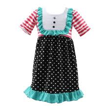 summer baby party dresses for 8 year old girls short sleeves