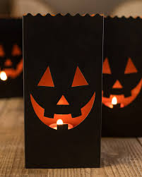 set of 4 halloween luminaries balsam hill
