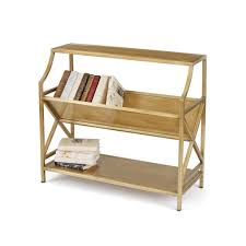 Brass Bookcase Modern Rustic Vintage U0026 Industrial Bookcases Shelving Alan Decor