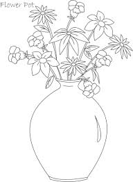 drawn pot plant coloring page pencil and in color drawn pot