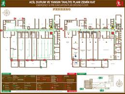 fire evacuation floor plan evacuation planrgency for company template business small sle