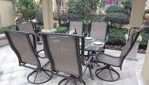 patio u0026 pergola amazon com grand regent 7pc outdoor swivel patio