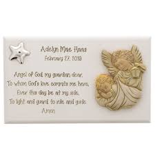 personalized guardian angel plaque the catholic company