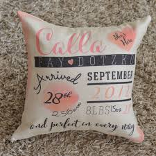 personalized pillows for baby 38 best baby announcement ideas images on baby