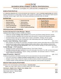 Marketing Executive Resume Sample by Corporate Resume Examples