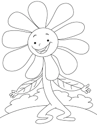 dancing daisy coloring download free dancing daisy coloring