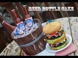 Liquor Bottle Cake Decorations Beer Bottle Cake Tutorial Youtube