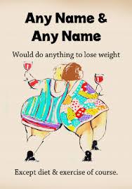 funny joke fat friends birthday card