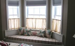 curtains wonderful how to hang curtains in a bay window ideas