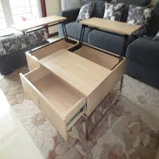 coffee table altra espresso extension coffee table lift up