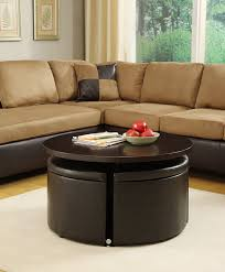 ottoman with 4 stools coffee table marion round coffee table with 4 stools hom furniture