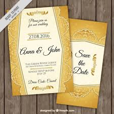 free sle wedding invitations stylish golden wedding invitations vector free