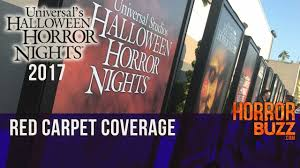 red carpet universal studios hollywood halloween horror nights red