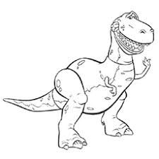 toy story rex coloring pages coloring
