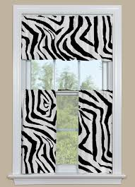 black white kitchen curtains animal print kitchen curtain in black and white zebra design