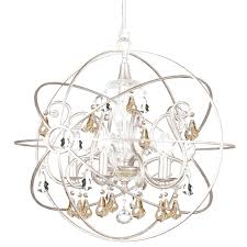 Crystal Sphere Chandelier Gold And Silver Chandelier With Crystorama Solaris 5 Light Crystal