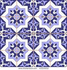 tile floor ornamental pattern seamless vector stock vector