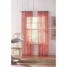 home decorators curtain rods home decorators collection sheer terracotta rod pocket printed