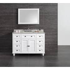 shop ove decors heather white undermount single sink bathroom