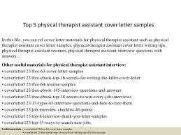 Resume Physical Therapist Physical Therapy Consultant Cover Letter