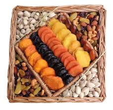 fruit and nut baskets dried fruit nut square wicker tray 40 oz sympathy and