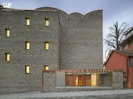 astonishing brick house exterior design with concrete outdoor