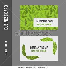 Event Business Cards Corporate Identity Business Cards Company Event Stock Vector